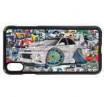 Koolart Stickerbomb & Licensed Lancer Evolution 6 Evo6 Car Image Mobile Phone Case Cover Fits iPhone
